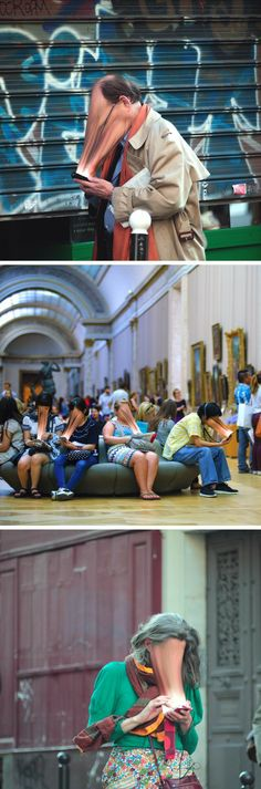 The Attention-Sucking Power of Digital Technology Displayed Through Photography by Antoine Gregor I love these picture because they are a true representation of what our society looks like now a days. A Level Photography, Creative Photography, Art Photography, Stunning Photography, Social Photography, Photomontage, Illusion Kunst, A Level Art, Wow Art