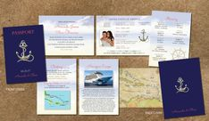 Awesome Picture of Cruise Wedding Invitations Cruise Wedding Invitations Cruise Wedding Invitation Passport Itinerary Booklet Gold Etsy Passport Invitations, Wedding Invitation Samples, Blue Wedding Invitations, Wedding Stationery, Honeymoon Cruise, Cruise Wedding, Boarding Pass Invitation, Booklet, All The Colors