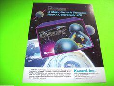 GYRUSS KIT By KONAMI 1983 ORIGINAL NOS VIDEO ARCADE GAME PROMO SALES FLYER #GYRUSS #KONAMIGYRUSS #VIDEOGAMEFLYER