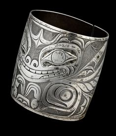 Sea Bear Bracelet | by Charles Edenshaw | Silver, late 19th century | Courtesy: McMichael Canadian Art Collection | photo by Trevor Mills, Vancouver Art Gallery