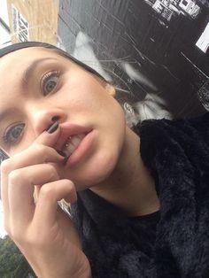 Josie Canseco smiley piercing goals