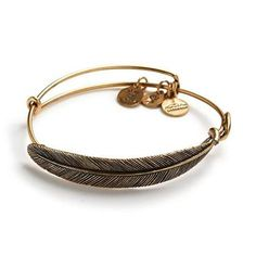 Alex and Ani Quill Feather Wrap - Rafaelian Gold Finish - Item 19369776
