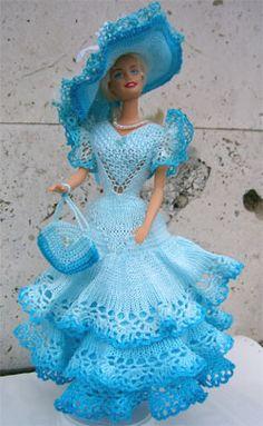 одежда для кукол вязаная крючком - Google Search