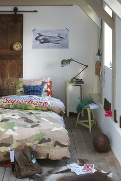 Voor de kleine soldaatjes: een leger kinderkamer #kidsroom