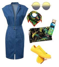 """""""In my town"""" by eugenia-mihaila on Polyvore featuring Converse, Gucci, Matthew Williamson and Dsquared2"""