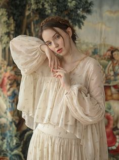 s/m/l length bust shoulder sleeve Cute Vintage Outfits, Vintage Inspired Outfits, Pretty Outfits, Vintage Dresses, Mori Fashion, Womens Fashion, Pakistani Fashion Casual, Ulzzang Fashion, Sweet Dress