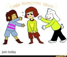 repin if you part of the Chara protection squad !!!!<<<we've got four so far keep it comin guys!<funny thing is tho chara has a knife that goes *DIE DIE DIE