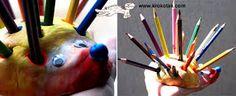 Imagini pentru pencils holder hedgehog