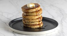 Make these Ultimate Pancakes by Greek Chef Akis. The most delicious, the best recipe for pancakes you've ever tried. Serve them with honey, maple syrup or any of your favorite t. Healthy Dessert Recipes, Sweets Recipes, Breakfast Recipes, Cooking Recipes, Confectionery Recipe, Pancake Toppings, Greek Recipes, Recipe Collection, Pancakes