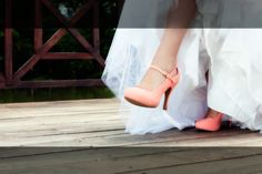 Coral wedding shoes <3