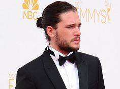 Kit Harington and his fuzzy fineness. | 23 Beard And Man Bun Combinations That Will Awaken You Sexually