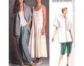 Vogue Sewing Pattern 1856 Misses' Jacket, Dress, Top, Pants and Shorts by Perry Ellis American Designer