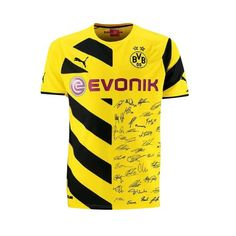 Camiseta del Borussia Dortmund 2014-2015 Local - Edición especial con impresión de las firmas de los jugadores del equipo