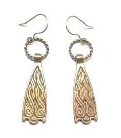 Kalevala Koru vintage earrings Vintage Earrings, Bracelet Making, Bronze, Drop Earrings, Detail, Bracelets, Magic, Jewelry, Nature