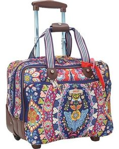 DEAL ALERT: Oilily Travel Office Bag On Wheels Navy - Oilily Small Rolling Luggage