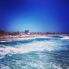 #Pacificbeach is so beautiful from the pier. #lovewhereyoulive - Rhythm of Our Lives Blog @ RhythmofOurLives.com