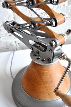 Image of Double Shear Scissor Lamp Custom Lighting, Modern Lighting, Lighting Design, Steampunk Furniture, Industrial Furniture, Iron Furniture, Furniture Design, Lamp Design, Diy Design