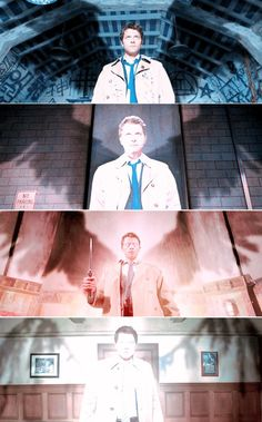 His wings :( they're all broken and mangled---just like Sam and Dean's souls! Wahhaahaha!!!! :(