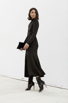 all black outfit layers