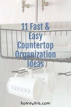 Love to let your dishes air dry over the sink? Want to keep your kitchen countertop clear and free of clutter at all times? Then here are 11 incredibly smart ways to organize your kitchen sink that will give you more storage space, eliminate clutter and ensure that your kitchen stays organized 24/7. Read the post now! #homewhis #countertoporganization #kitchenorganization #declutter #cabinetorganization #undersinkorganization #sinkorganization Kitchen Countertop Organization, Under Sink Organization, Kitchen Countertops, Kitchen Sink, Home Organization, Under Shelf Basket, Basket Shelves, Declutter, Organize
