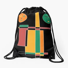 Drawstring Backpack, Backpacks, Geometric Fashion, Sacks, Drawstring Bags, Products, Backpack, Backpacker, Backpacking