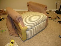 do it yourself divas: DIY: Reupholster An Old La-Z-Boy Recliner