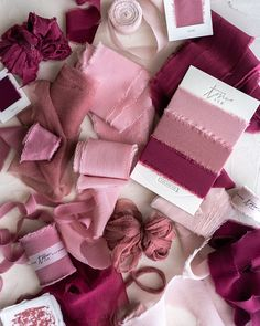 Tono + co Limited Edition 'The Color Pink' in Classic and Gossamer Silk Ribbon textures. Lovingly hand-dyed in Santa Ana, California and available in 24 signature colors. Check out our website for more color theory, styling, and bridal inspiration.