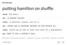It's impossible to tell whether it's Alexander Hamilton, A Winters Ball, or Guns and Ships /// or the Adams administration/// I have never read anything more relatable about being in this fandom in my life JFC. Alexander Hamilton, Fandoms, Nos4a2, Hamilton Lin Manuel Miranda, Aaron Burr, Hamilton Musical, Bubbline, What Is Your Name, Dear Evan Hansen