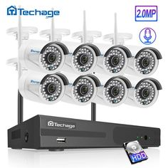 Techage H.265 8CH 1080P HD Draadloze NVR Security CCTV Systeem 2MP Outdoor Waterdichte Audio WiFi IP Camera Video Surveillance kit Sale Only For US $155.00 on the link