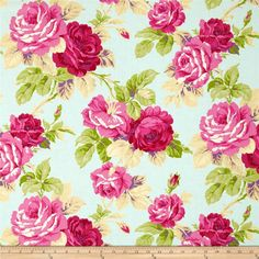 Jennifer Paganelli Good Company Isabelle Opal from @fabricdotcom  Designed by Jennifer Paganelli for Free Spirit, this cotton print fabric is perfect for quilting, apparel and home decor accents. Colors include fuchsia, garnet pink, green, purple, cream and a light blue background.