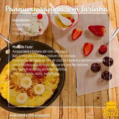Receita rapidinha da semana e nem precisava de template escrito :) Panqueca de 2 ingredientes e sem farinha! #receitadasemana #panqueca #semgluten #semlactose  Passo-a-passo com link na BIO