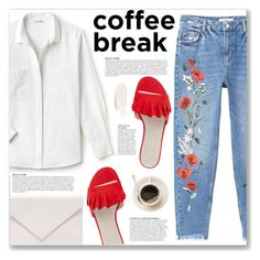 """Caffeine Fix: Coffee Break"" by myduza-and-koteczka on Polyvore featuring MANGO, Anja, Lacoste, Karen Millen and Verali"