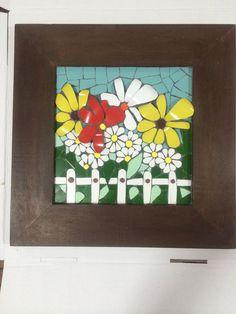 Flores na cerca - mosaic