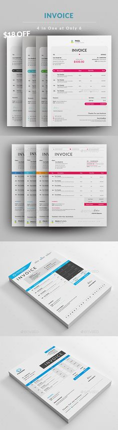 Invoice Business design, Letterhead and Font logo - easy invoice