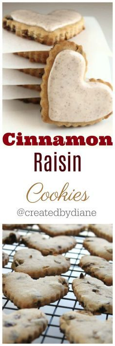 easy and delicious are these cinnamon raisin cut out cookies, the raisins are cut small to add a great chewiness with out be overly mushy. Cut Out Cookie Recipe, Cookie Dough Recipes, Cookie Flavors, Cut Out Cookies, Sugar Cookies Recipe, No Bake Cookies, Yummy Cookies, Cake Cookies, Cookies Et Biscuits