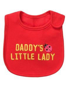 Carters Tee Shirtthing Bib Red