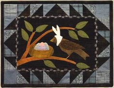 April Easter Flannel Applique Quilt Kit, Bertie's Year  at Creative Quilt Kits