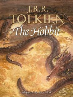 The Hobbit Hardcover Illustrated edition by J. Tolkien, illustrated by Alan Lee Alan Lee, The Hobbit Book Cover, The Hobbit Movies, Gandalf, J. R. R. Tolkien, Tolkien Books, Martin Shaw, Jonathan Frakes, Best Fantasy Book Series