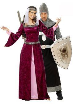 Déguisement couple reine et chevalier médiéval : Deguise-toi, achat de Déguisements couples