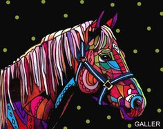 50% Off Code ACORN50 - Horse Art Poster Print of Painting by Heather Galler (HG517)