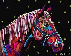 Horse Art Poster Print of Painting Modern by HeatherGallerArt, $28.00