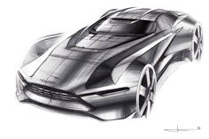 © Ondrej Jirec | Aston Martin Tech07 Sketches | CarDesignPro on Patreon