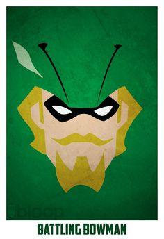 Bloops superhero posters - Imgur/Green Arrow