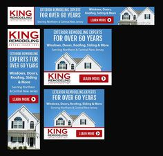 Display/Banner Ad for Exterior Home Remodeling Company Remarketing Campaigns by Mecolvin