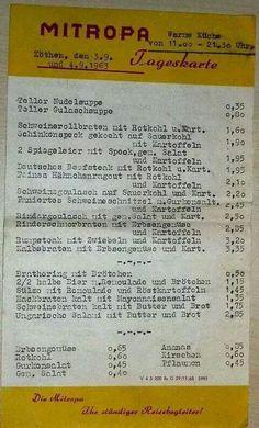 Die Preise in der DDR blieben bis zu ihrem Ende 1989 im Wesentlichen gleich. 1 Ostmark waren 10 bis 20 Pfennig.