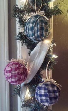 Ragballs for Christmas ornaments.