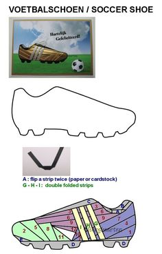 Irisvouwen: Voetbalschoen / Soccer shoe