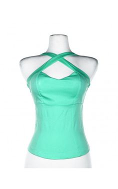 Deadly Dames- Voodoo Vixen Top in Mint | Pinup Girl Clothing