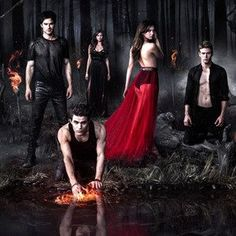 The Vampire Diaries Cast--yes another tween tv series that i watch because eveyrone is half naked most of the time.