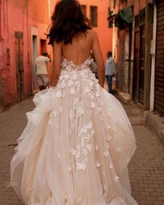 Best Wedding Dresses Collections for 2021/2022 ❤ best wedding dresses princess low back floral appliques liz martinez #weddingforward #wedding #bride